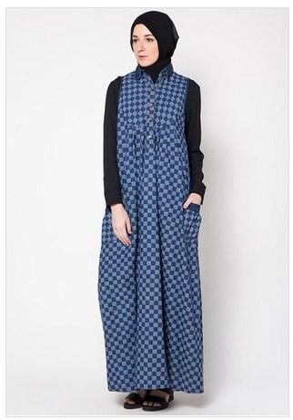 Inspirasi Model Baju Muslim Gamis Modern Motif Kotak Kotak