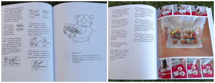 libro montessori Cocinando en familia, interior libro