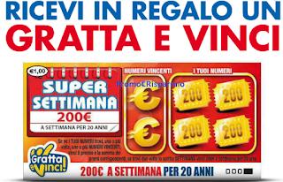 Logo Super settimana da Pam Panorama che ti regala i Gratta e Vinci