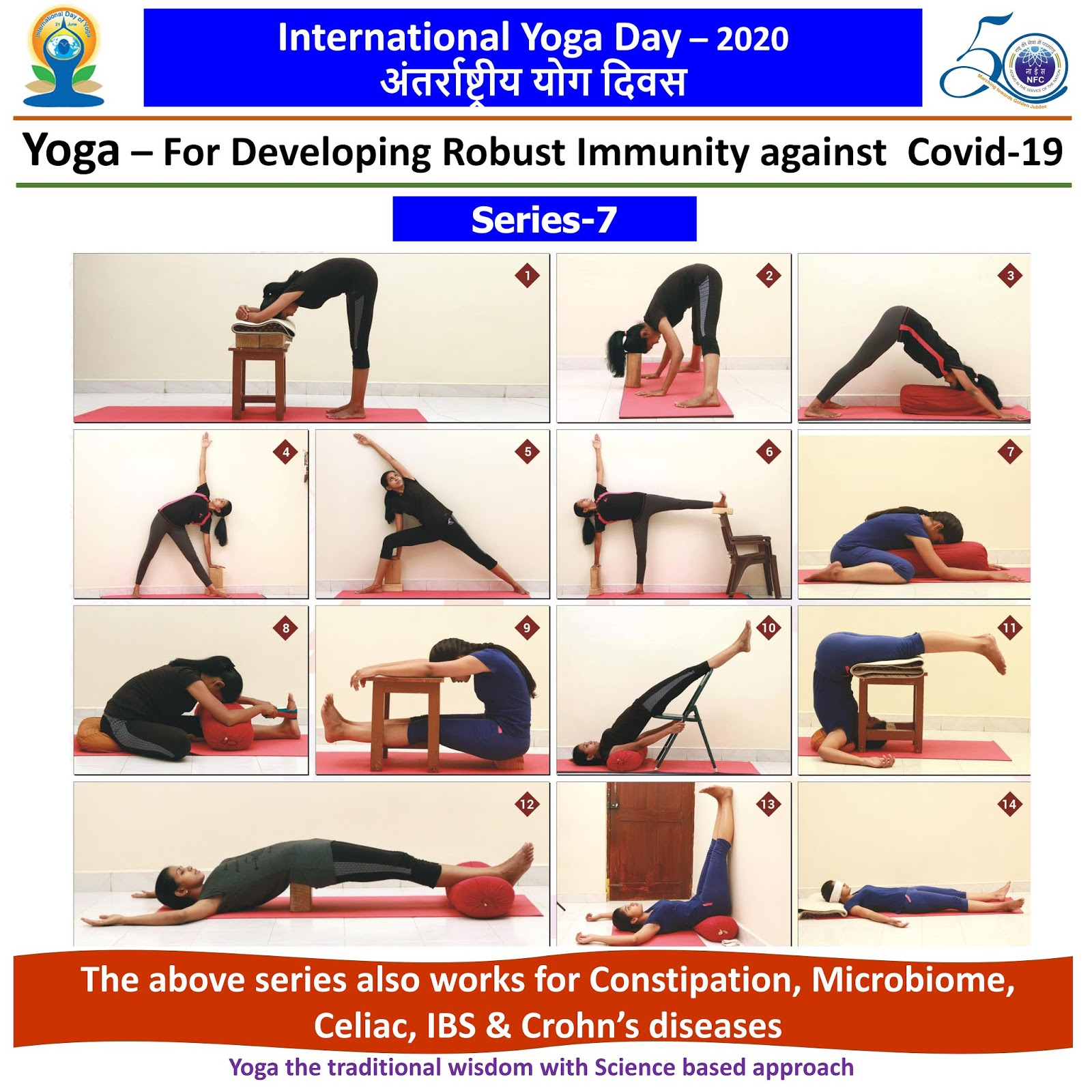 Happy International Yoga Day ... This series also works for Constipation, Microbiome, Celiac, IBS & Crohns diseases