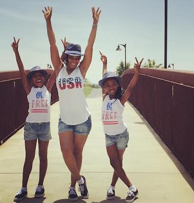 Actress Georgina Onuoha & daughters celebrate US Memorial Day with fun photos