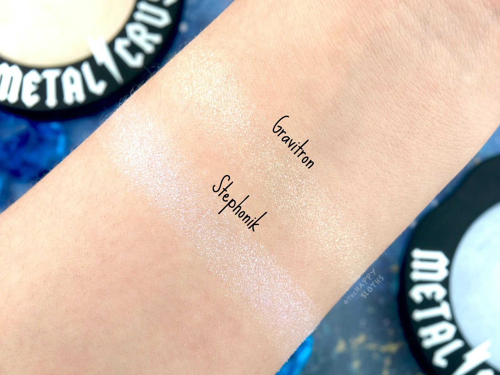 "Kat Von D | Metal Crush Extreme Highlighter in ""Gravitron"" & ""Stephonik"": Review and Swatches"