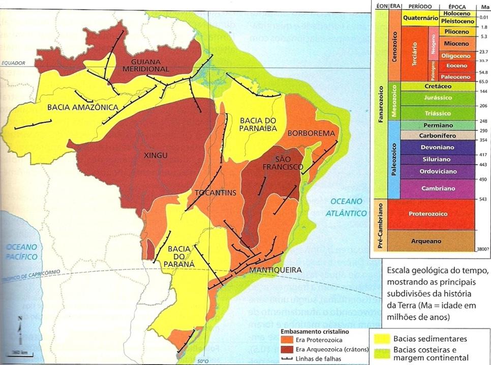 Estrutura Geológica Brasileira Geografalando