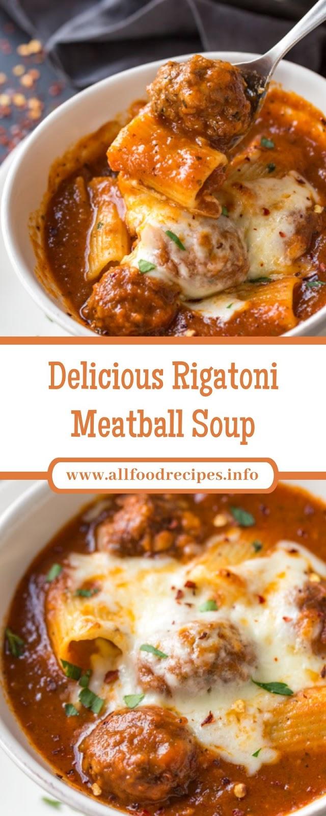 Delicious Rigatoni Meatball Soup