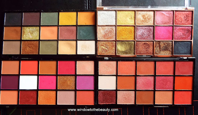 Revolution Reloaded palettes comparison
