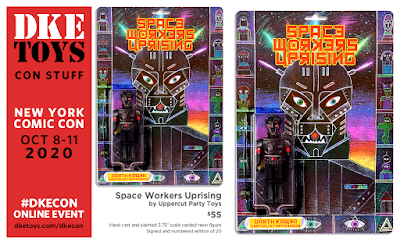 New York Comic Con 2020 Exclusive Space Workers Uprising Resin Figure by Uppercut Party Toys x DKE Toys