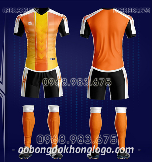 Áo bóng đá ko logo Zuka TV màu cam