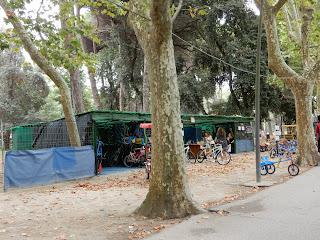 Viareggioの公園の貸自転車