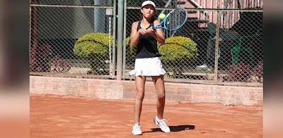 Tenista Zhoe Castro (Foto: Asociación de Tenis de Cochabamba)