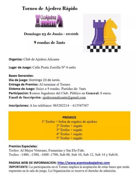 23 junio, Blitz Alicante