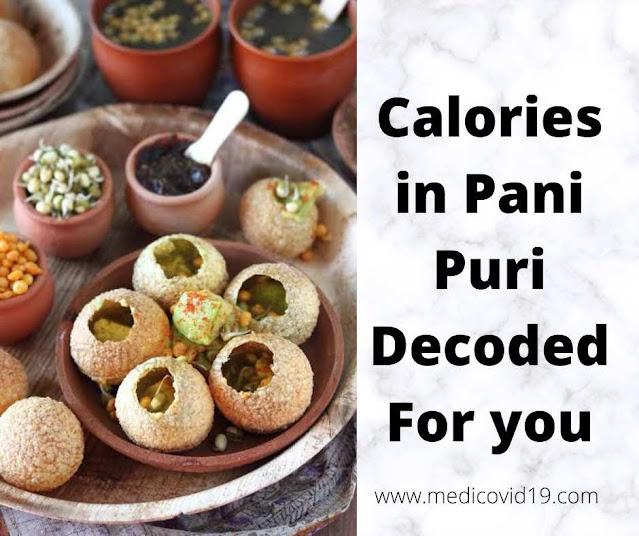 Calories In Pani Puri Indian Dish