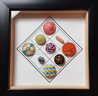 A selection of silk thread passementerie buttons by Gina Barrett