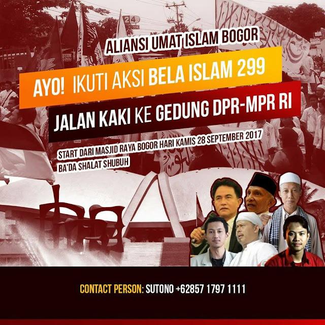 Aksi Bela Islam Jalan Kaki Dari Bogor Mendadak Dibatalkan