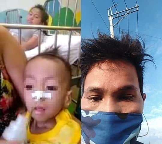Rider helps man walking from Bulacan to Bicol for sick son, kid dies just days later