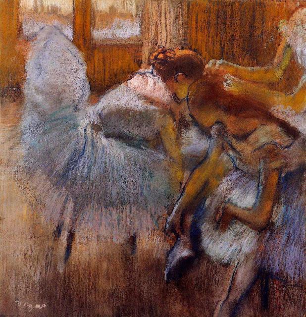 Эдгар Дега - Танцовщицы на отдыхе (ок.1885)