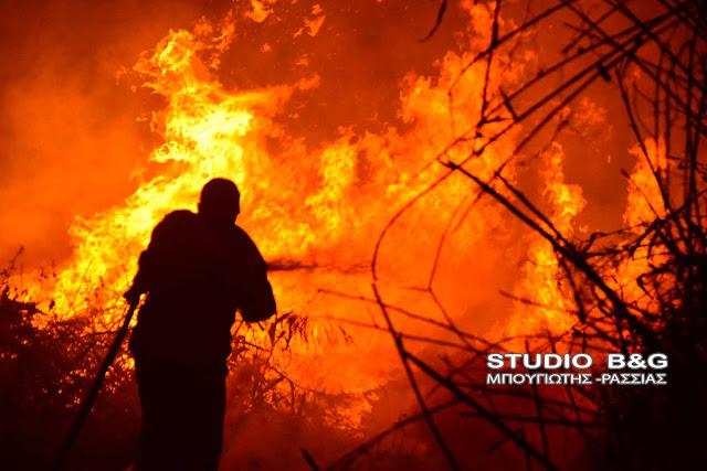 Πυρκαγιά σε λίγο έξω από το Άργος