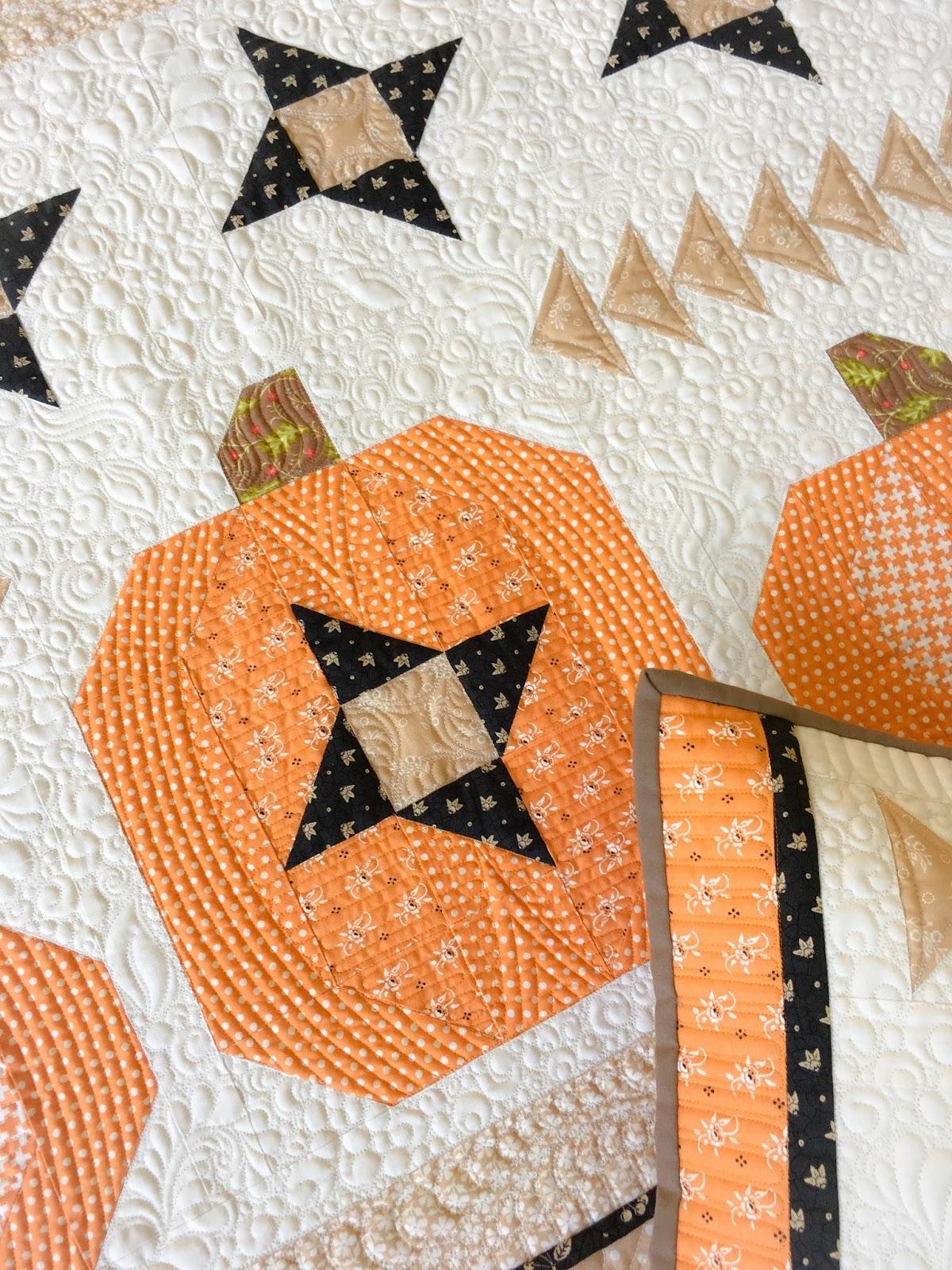Carried Away Quilting: New pattern: Pumpkin Sky wall hanging & pillow : pumpkin quilt pattern - Adamdwight.com