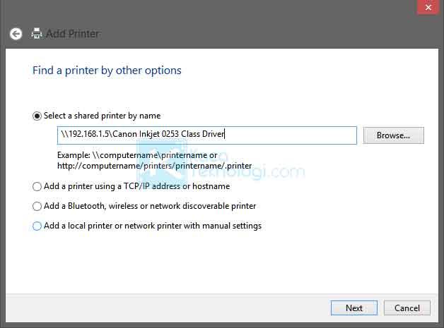 Cara membagikan / sharing printer di Windows 7/8/10 menggunakan jaringan LAN / Wi-Fi / Wireless / Internet agar printer bisa digunakan bersama dengan komputer yang lain yang terhubung dalam jaringan.