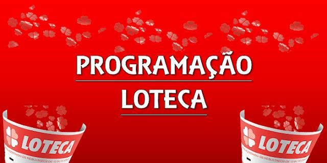 Loteca 894 programação grade dos jogos