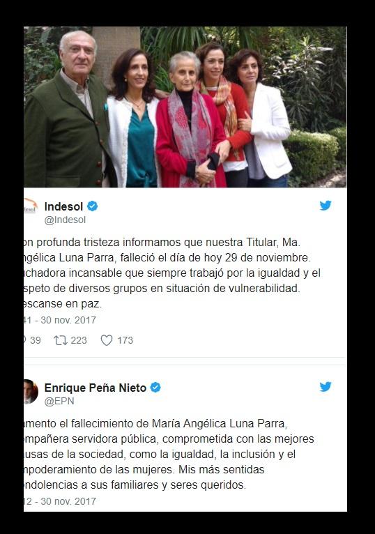 Muere Luna Parra