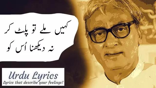 Wo Bewafa Hai To Kia Mat Kaho Bura Usko - Naseer Turabi - Sad Urdu Poetry