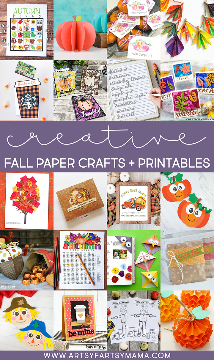 Creative Fall Paper Crafts + Printables