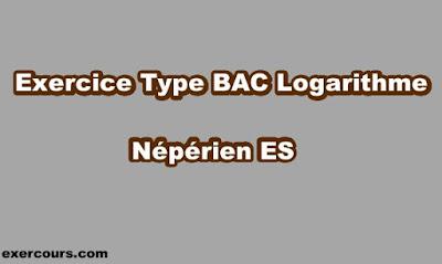 Exercice Type BAC Logarithme Népérien ES