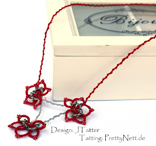 Tatted necklace by PrettyNett.de