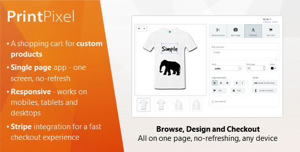 PrintPixel - A Shopping Cart for Custom Products