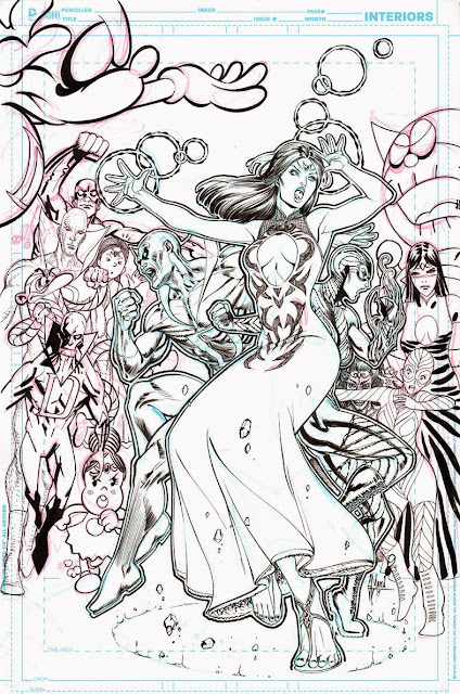 JUSTICE LEAGUE DARK #37 cover process by Guillem March
