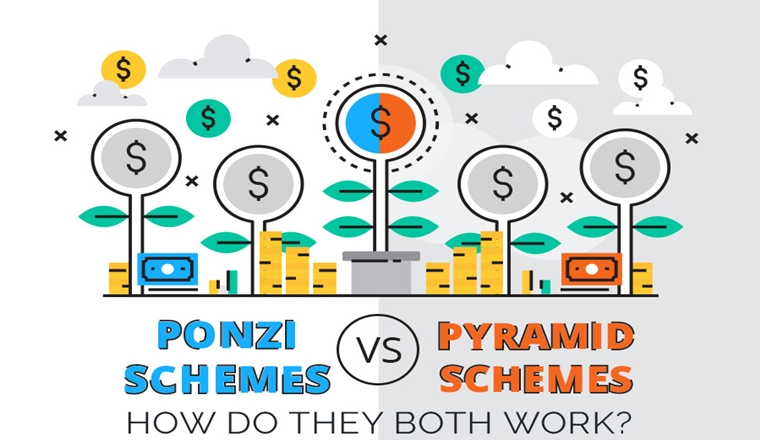 Ponzi Schemes Vs Pyramid Schemes: How Do They Both Work? #infographic