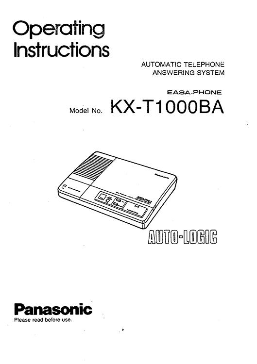 Eletrônica para Makers: Secretária Eletrônica Panasonic KX