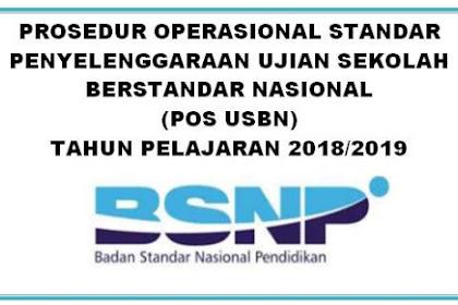 POS USBN SD, SMP, SMA, SMK, SDLB, Paket A, B, dan C Tahun 2018/2019