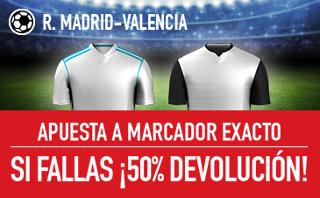 Sportium promocion 25 euros Real Madrid vs Valencia 27 agosto