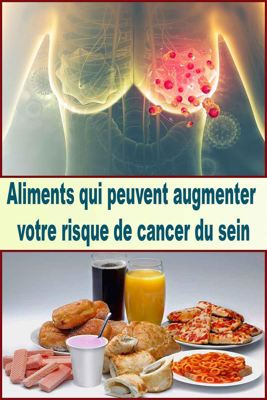 aliments peuvent augmenter votre risque de cancer du sein.