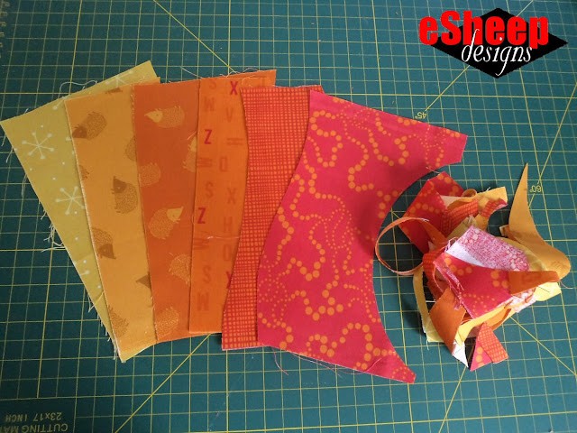 Lily and Loom Red Sky fabrics