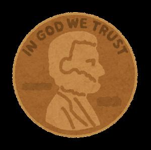 1セント硬貨のイラスト(表)