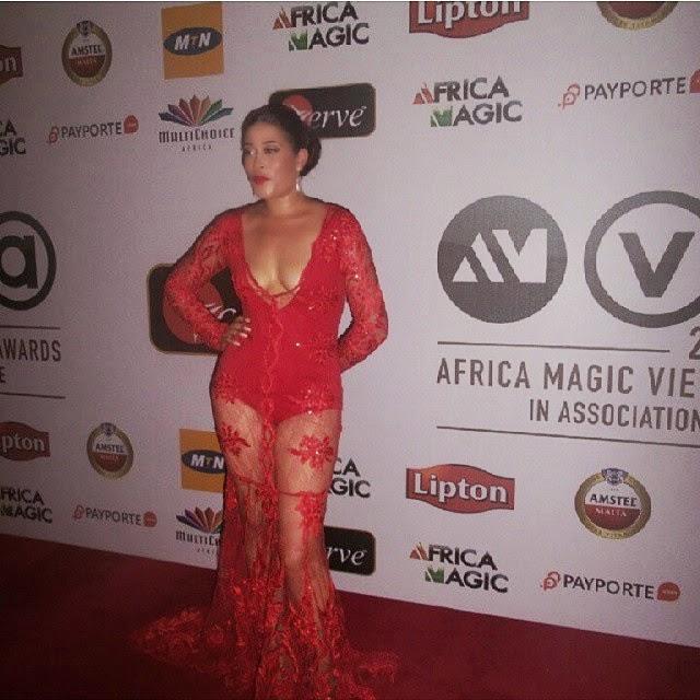Photos: Actress Adunni Ade Wears Naked Wonder Dress To Africa Magic 2015 AwardsNaijaGistsBlog