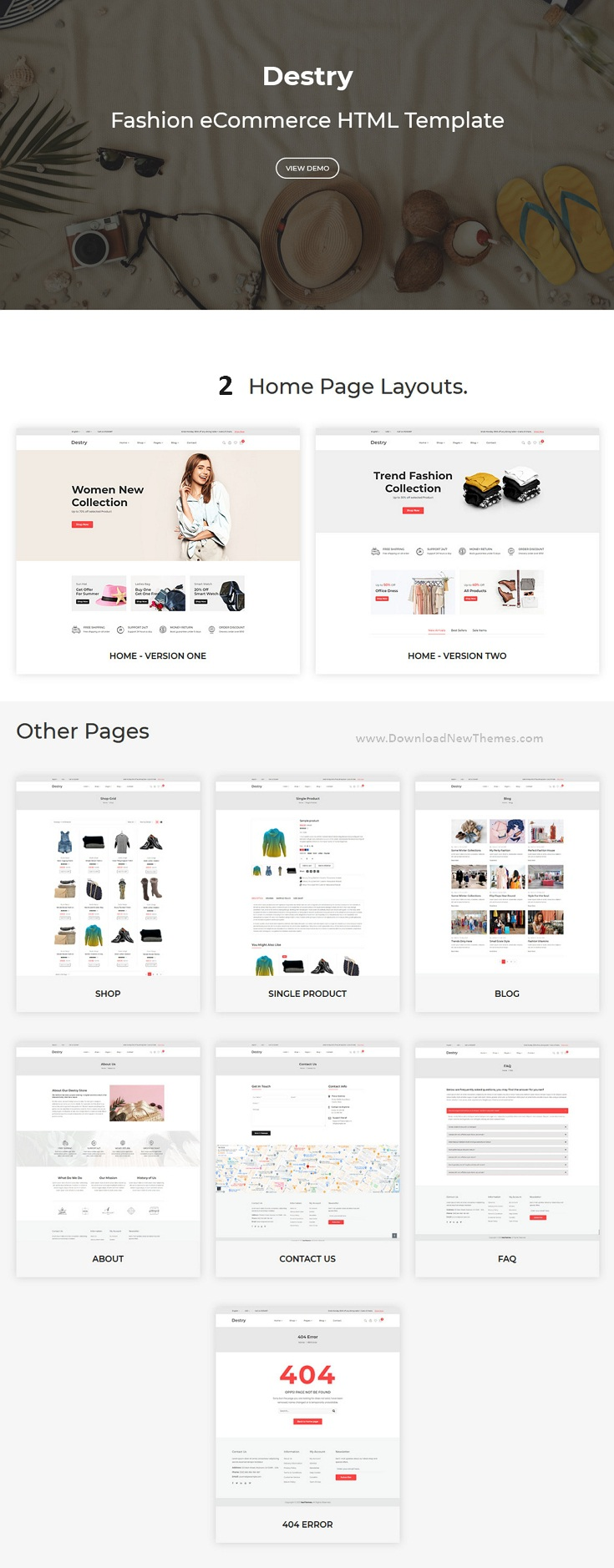 Fashion eCommerce Shop Template