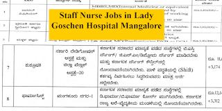 Staff Nurse Jobs under District Health and Family Welfare Department Mangalore