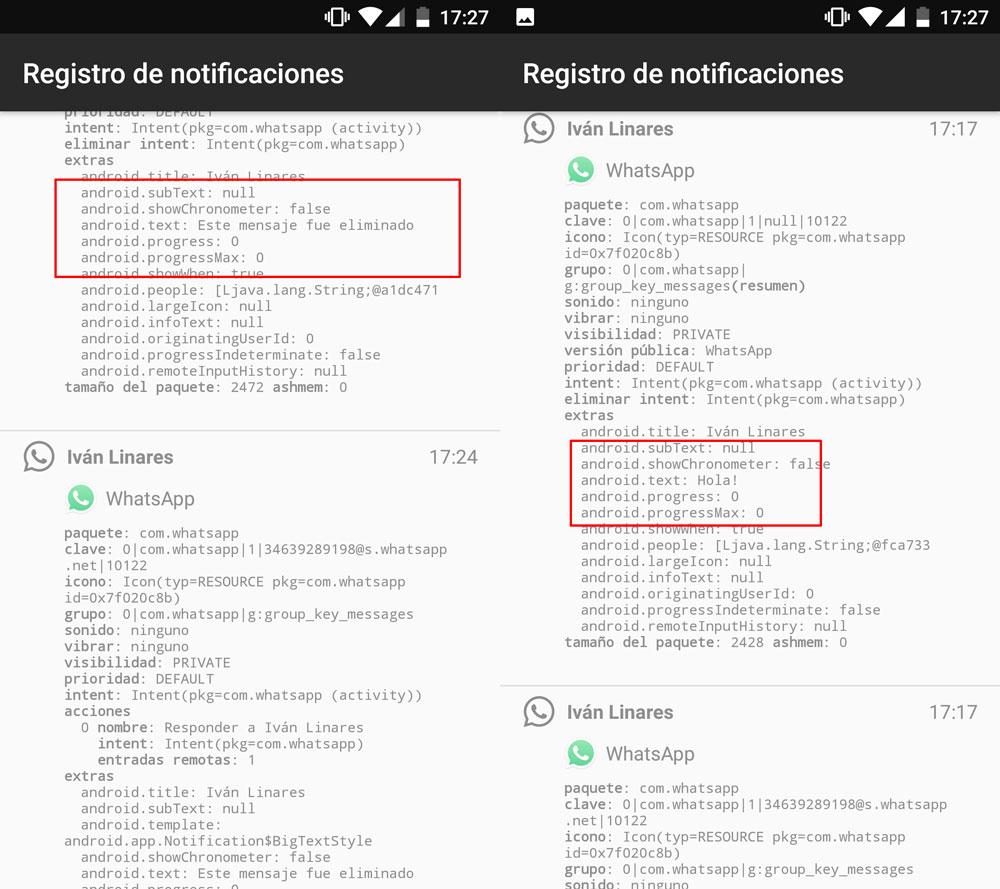 Cómo ver un mensaje de WhatsApp eliminado tras los 7 minutos