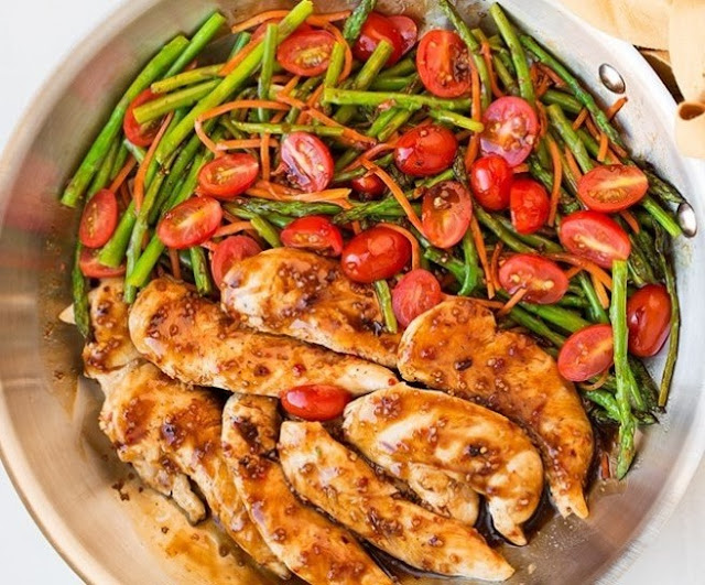 Balsamic Chicken and Vegetables #healthy #keto
