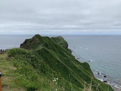 神威岬の先端部