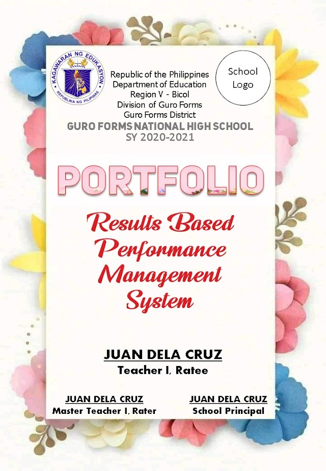 FREE RPMS E-Portfolio for SY: 2020-2021 | Editable Template (PowerPoint)