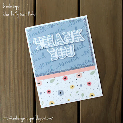 card 1 created with Happiness Lives Here and Every Thank You