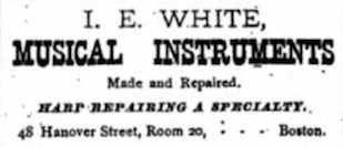 1887 Advertisement from Gatcomb's Banjo and Guitar Gazette