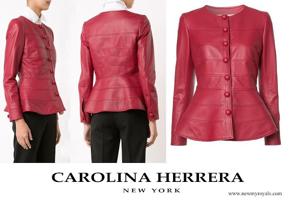 Queen Letizia wore CAROLINA-HERRERA Peplum Jacket