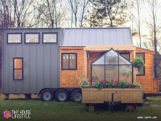 Who Would Have Thought That You Can Squeeze In A Greenhouse And Porch In A  Tiny Trailer Home. Well The Tiny House Builders Of The Olive Nest Tiny  Homes Just ...