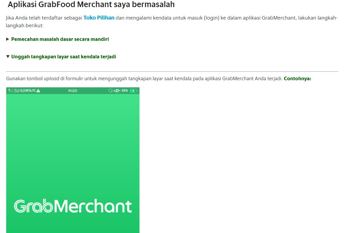 Kenapa Grab Merchant Tidak Bisa Dibuka