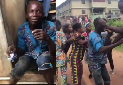 Man Trying To Steal Panties From A FUTA Student's Apartment, Caught